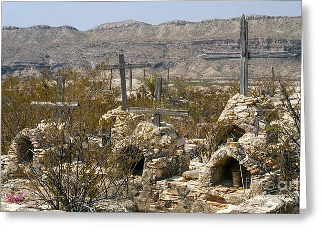 Terlingua Texas Greeting Cards - Stone Gravesites Greeting Card by Bob Phillips