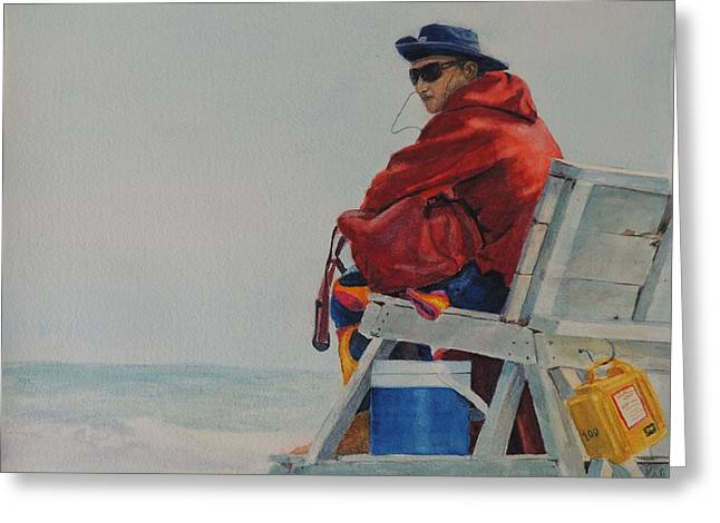 Stones Greeting Cards - Stone Harbor Beach Patrol Lifeguard Greeting Card by Patty Kay Hall