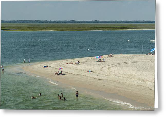 North Atalantic Greeting Cards - Stone Harbor Point State Park Greeting Card by Richard Nowitz