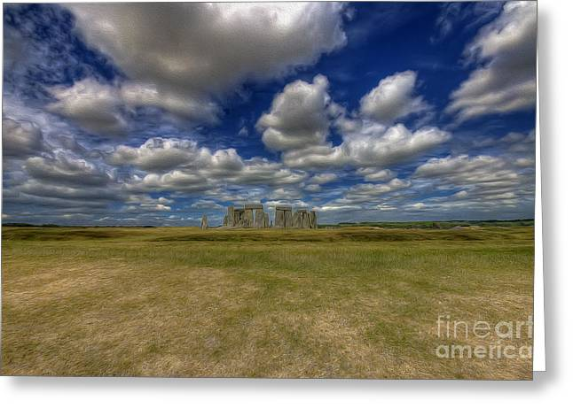 Stone Henge V2 Greeting Card by Darren Wilkes
