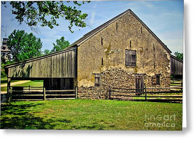 Stone Barn Greeting Cards - Stone Horse Barn Greeting Card by Colleen Kammerer