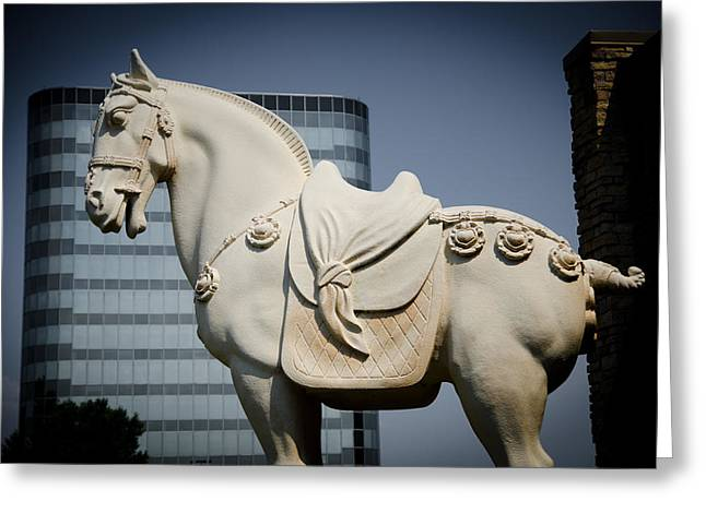 Concrete Sculpture Greeting Cards - Stone Horse Greeting Card by Off The Beaten Path Photography - Andrew Alexander