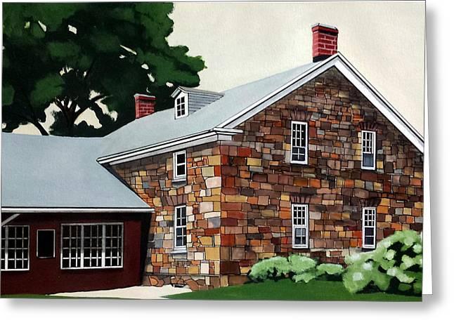 Stone House Greeting Cards - Stone House Amana Iowa Greeting Card by John Chehak