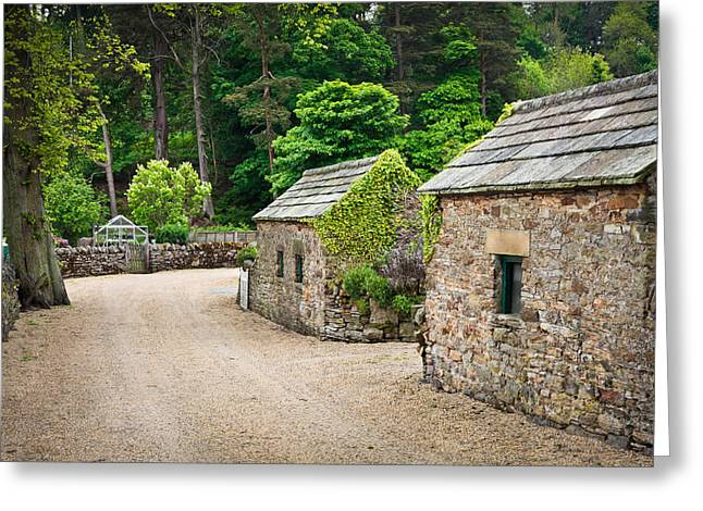 Tiled Greeting Cards - Stone huts Greeting Card by Tom Gowanlock