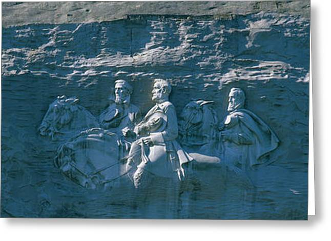 Confederate Monument Greeting Cards - Stone Mountain Confederate Memorial Greeting Card by Panoramic Images