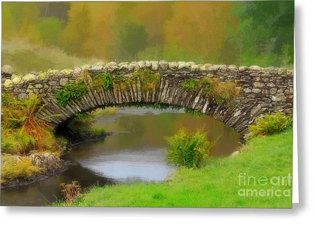 Packhorse Greeting Cards - Stone Packhorse Bridge in Watendlath Greeting Card by Louise Heusinkveld
