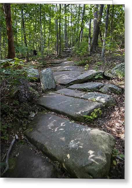 Jonah Photographs Greeting Cards - Stone Path Greeting Card by Jonah George