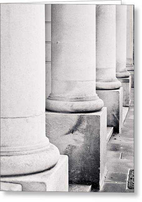 Strength Photographs Greeting Cards - Stone pillars Greeting Card by Tom Gowanlock