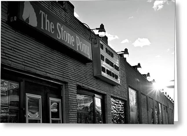 Historical Buildings Greeting Cards - Stone Pony Asbury Park Side View Greeting Card by Terry DeLuco