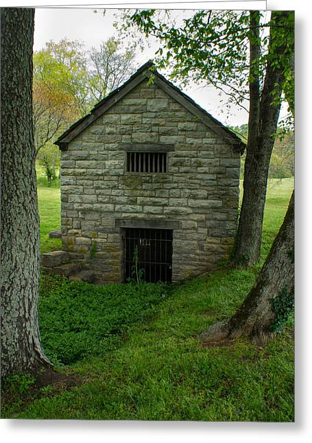 Grate Greeting Cards - Stone Spring House 1 Greeting Card by Douglas Barnett