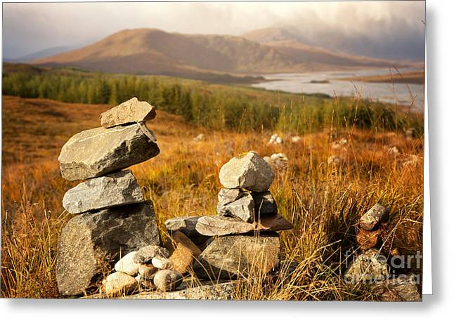 Stack Greeting Cards - Stone stacks in the Highlands Greeting Card by Jane Rix