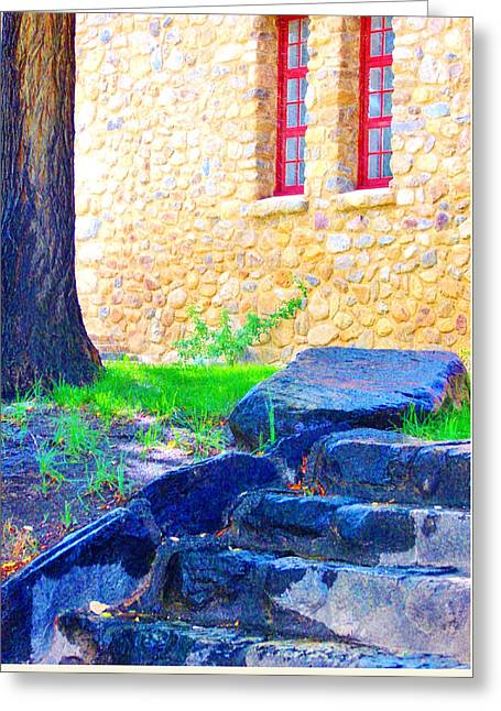 Big Pine Country Greeting Cards - Stone Steps Greeting Card by Marilyn Diaz