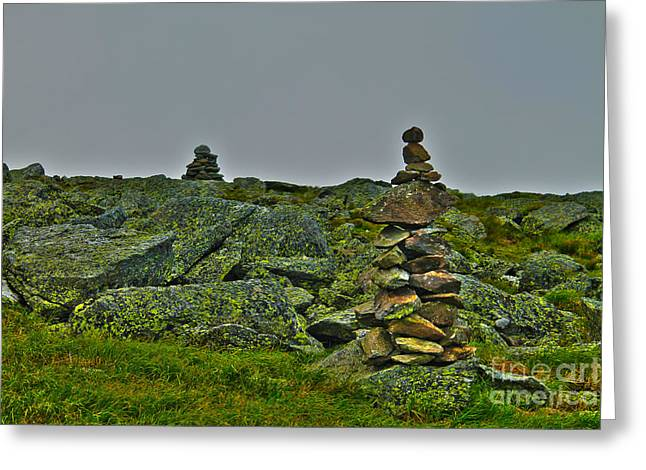 Overcast Day Greeting Cards - Stone towers Greeting Card by Claudia Mottram