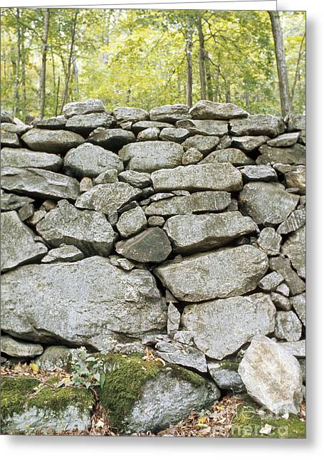 Dry Stone Wall. Greeting Cards - Stone Wall Greeting Card by Bill Longcore