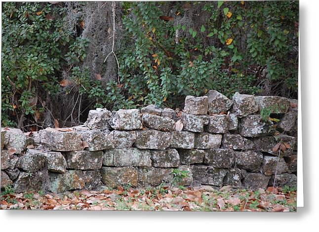 Mending Fence Greeting Cards - Stone Wall - photograph Greeting Card by RoyD Erickson