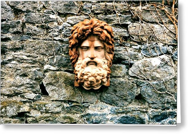 Best Sellers -  - Garden Statuary Greeting Cards - Stone Wall Greeting Card by Sharon Blanchard