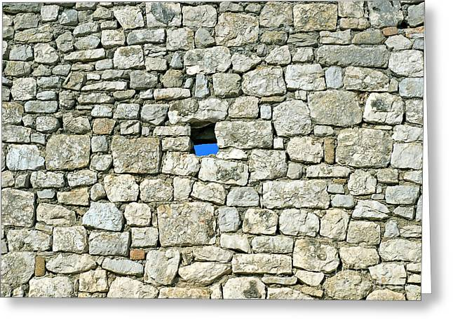 Missing Greeting Cards - Stone wall Greeting Card by Sinisa Botas