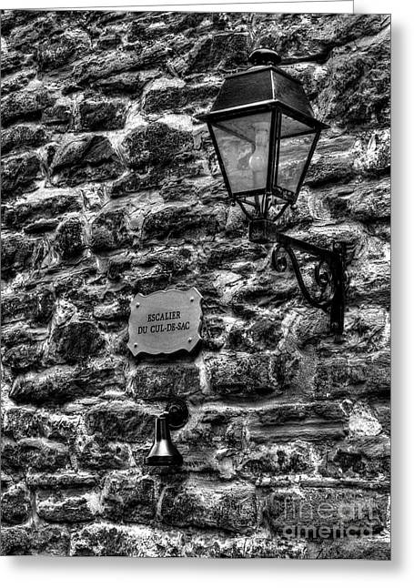 Quebec Province Greeting Cards - Stone Walls Of Old Quebec Greeting Card by Mel Steinhauer