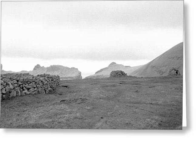 Stack Rock Greeting Cards - Stone Walls On A Landscape, Shetland Greeting Card by Panoramic Images