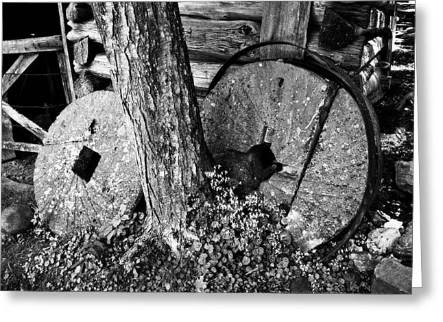 Grinding Greeting Cards - Stone Wheels Greeting Card by David Lee Thompson