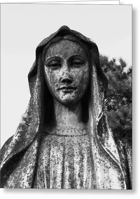 Floral Photographs Sculptures Greeting Cards - Stone Woman Greeting Card by Nathan Little