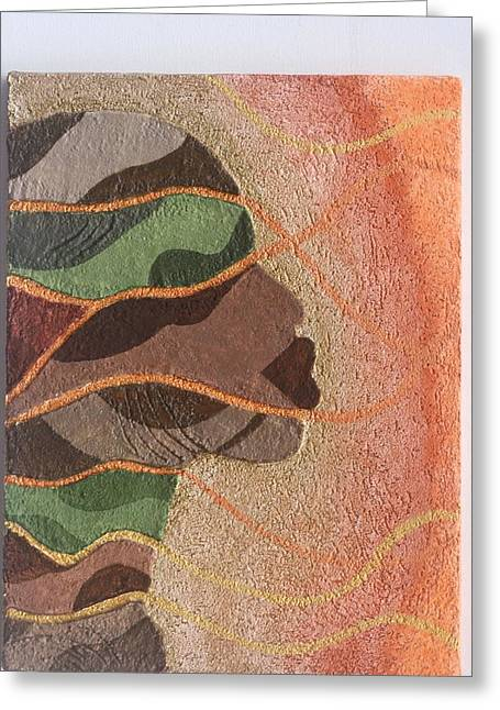Orange Reliefs Greeting Cards - Stone work 1 Greeting Card by Fred Odle
