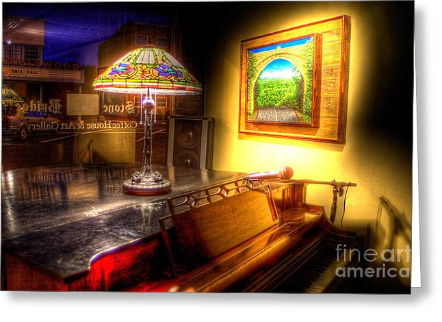 Englewood Greeting Cards - StoneBridgeCoffeeHouse4732-3-4 Greeting Card by Timothy Bischoff