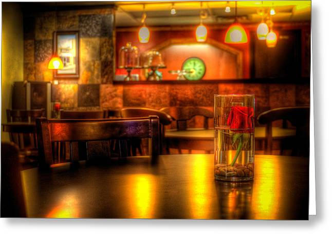 Englewood Greeting Cards - StoneBridgeCoffeHouse4726-7-8 Greeting Card by Timothy Bischoff