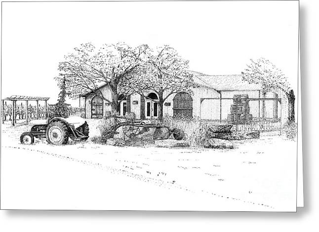 Stonechurch Winery Greeting Card by Steve Knapp