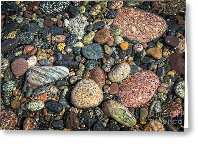 Agate Beach Greeting Cards - Stoned on the Two Hearted Greeting Card by Jay Luptak