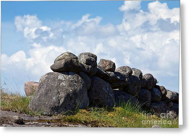 Stonefences Greeting Card by Lutz Baar