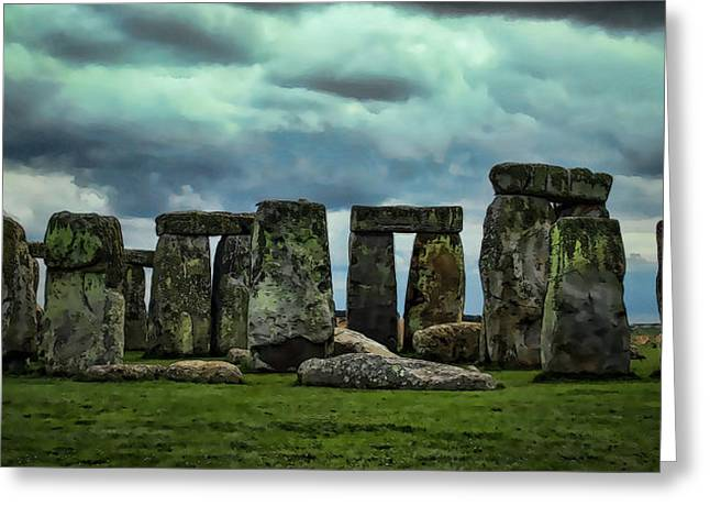 Stonehenge 1 Greeting Card by Joanna Madloch