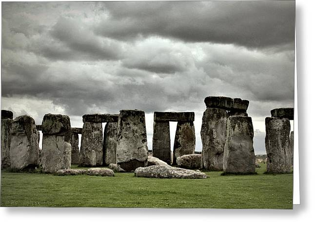 Stonehenge 2 Greeting Card by Joanna Madloch