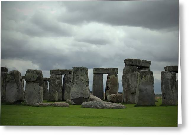 Stonehenge 3 Greeting Card by Joanna Madloch