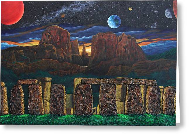 Cathedral Rock Greeting Cards - Stonehenge at Cathedral Rock Greeting Card by Jeffrey Oldham