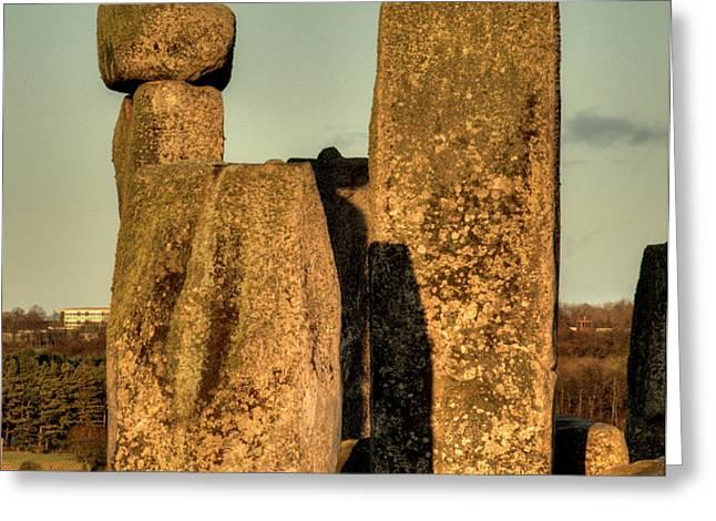 Stonehenge at Sunset Greeting Card by Deborah Smolinske