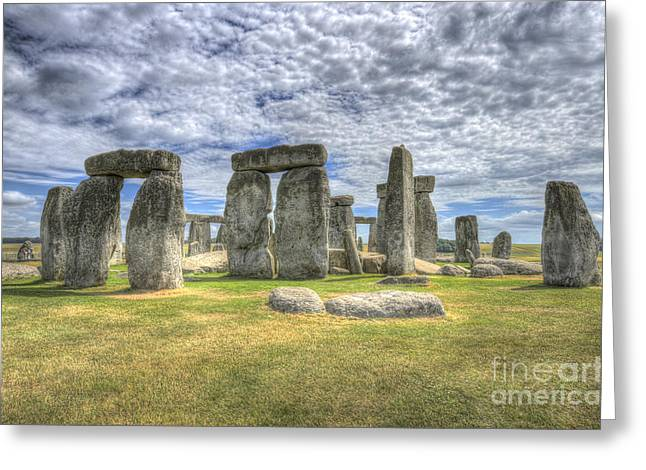 Stonehenge Greeting Card by Darren Wilkes