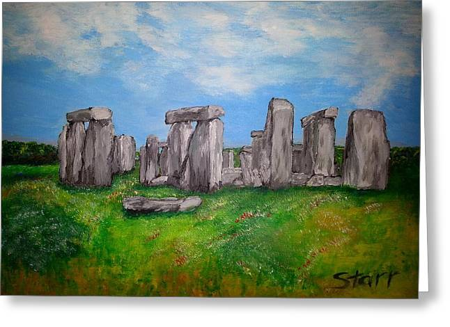 Mound Paintings Greeting Cards - Stonehenge Greeting Card by Irving Starr