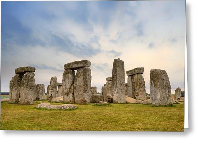 Amesbury Greeting Cards - Stonehenge Greeting Card by Joana Kruse
