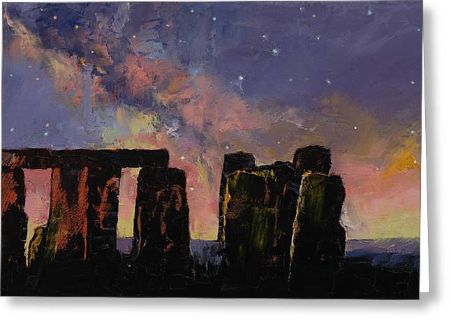 Landscape Artist Greeting Cards - Stonehenge Greeting Card by Michael Creese