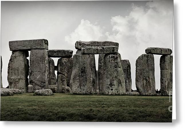 Solstice Greeting Cards - Stonehenge -- Mood 2 Greeting Card by Stephen Stookey