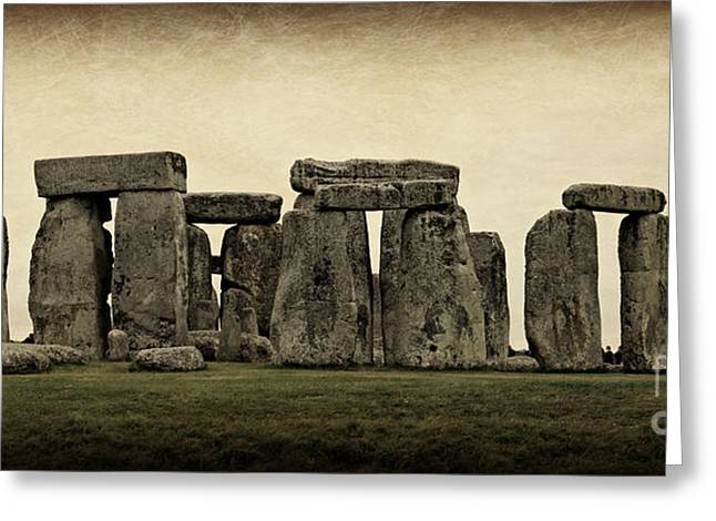 Winter Solstice Greeting Cards - Stonehenge Greeting Card by Stephen Stookey