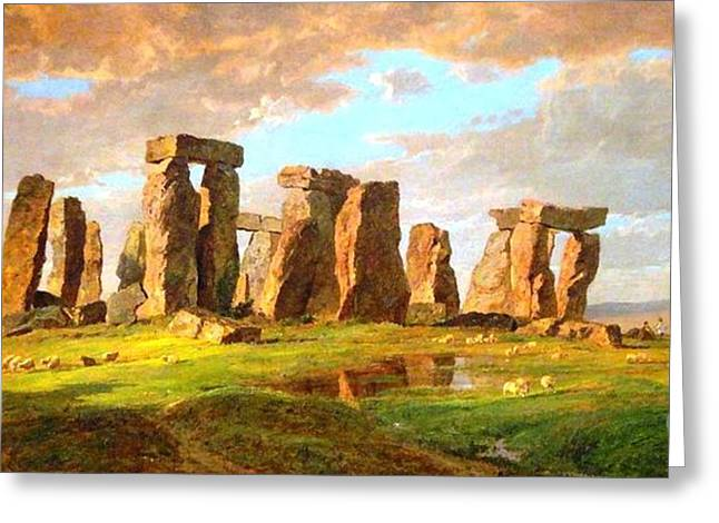 Cropsey Greeting Cards - Stonehenge Greeting Card by Pg Reproductions