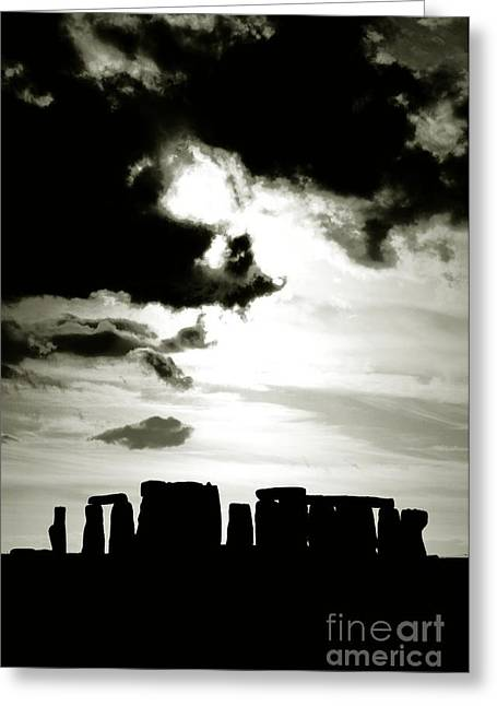 Ley Lines Greeting Cards - Stonehenge prehistoric stone circle on Salisbury Plain England Greeting Card by David Lyons