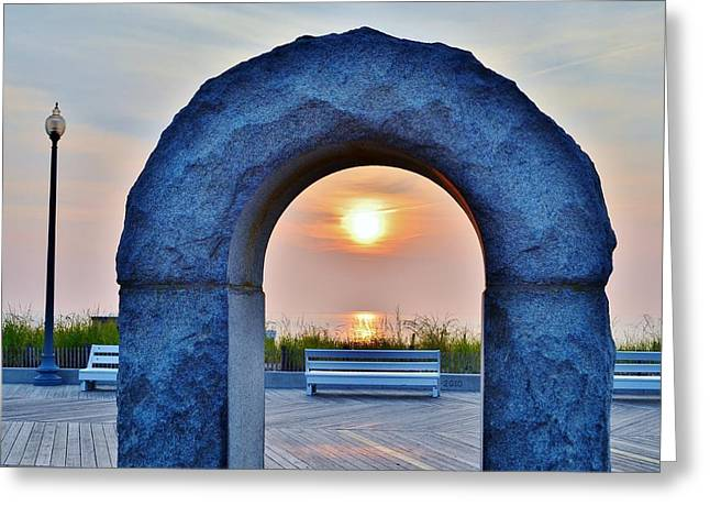 Kim Photographs Greeting Cards - Arch at the Womans Christian Temperance Union Fountain - Rehoboth Beach Delaware Greeting Card by Kim Bemis
