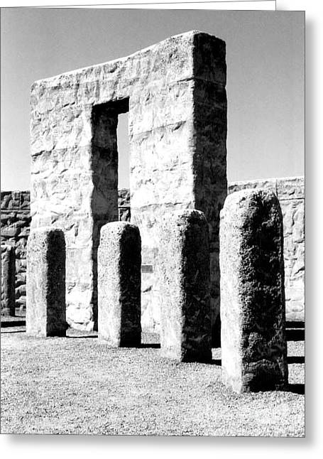 Stonehenge Replica Greeting Card by Chalet Roome-Rigdon