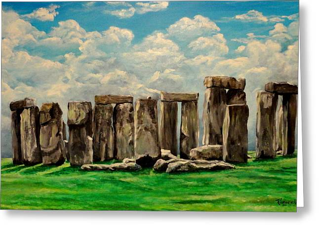Levi Greeting Cards - Stonehenge Greeting Card by Ruanna Sion Shadd a