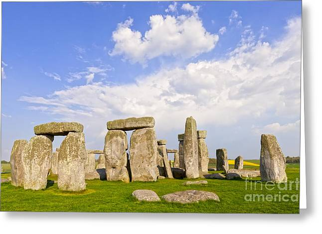 England Photographs Greeting Cards - Stonehenge Stone Circle Wiltshire England Greeting Card by Colin and Linda McKie