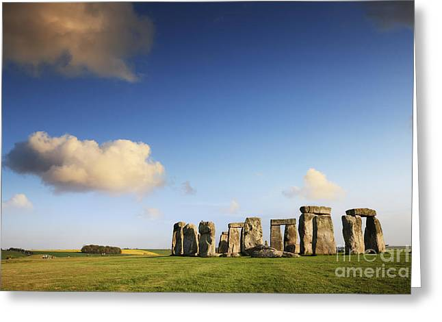 Clouds Greeting Cards - Stonehenge Summer Evening Greeting Card by Colin and Linda McKie