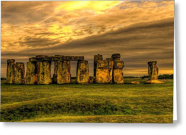 Henge Greeting Cards - Stonehenge Greeting Card by Svetlana Sewell